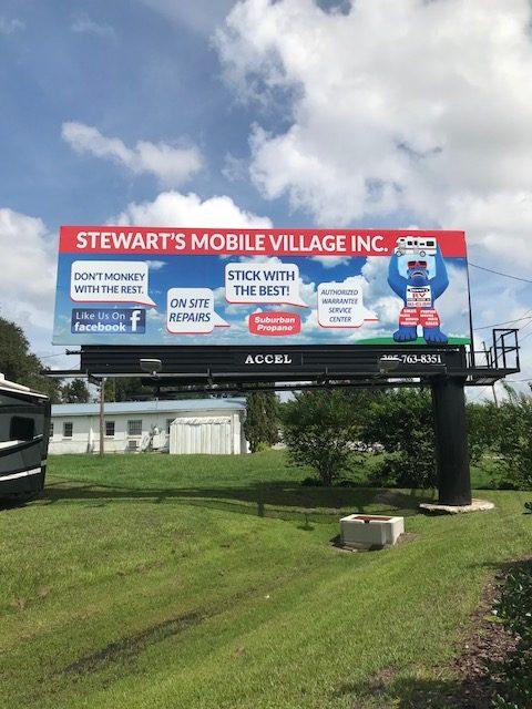Outdoor-Advertising-Sign #170.2 LHR - Stewart's Mobile Village PoP -- 9-5-18